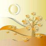 Fall season. vector stylized image