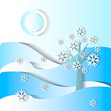 Winter season. vector stylized image
