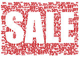 Sale red and white background