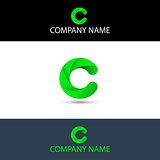Simple Green Letter C Logo