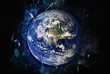 Planet Art - Earth. Elements of this image furnished by NASA