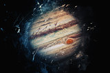 Planet Art - Jupiter. Elements of this image furnished by NASA