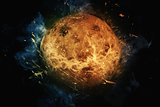 Planet Art - Venus. Elements of this image furnished by NASA