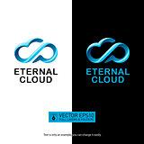 Speech cloud logo design. Creative concept. Isolated vector icon