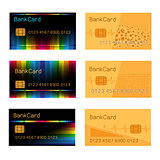 Bank card design set