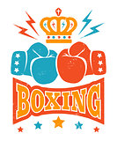 Retro boxing logo.