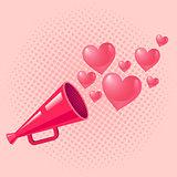 vintage pink megaphone