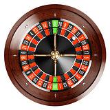 Casino gold roulette close up