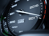 2017 year car speedometer