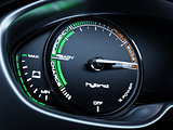 Hybrid car tachometer panel