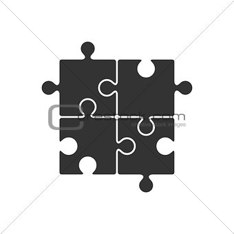 Four piece puzzle icon