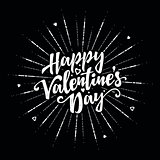 Happy Valentines Day text and lettering.