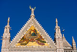 Detail of Siena Cathedral - Tuscany Italy