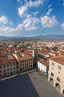Aerial view of Pistoia Tuscany Italy