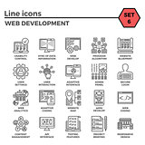 Web Development Line Icon Set