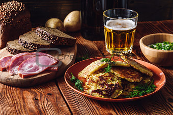 Potato Pancakes with Beer