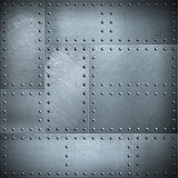 Metal plates with rivets steel background or texture