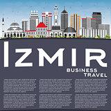 Izmir Skyline with Gray Buildings, Blue Sky and Copy Space.