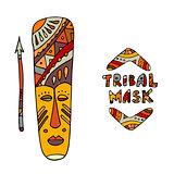 Tribal mask ethnic, sketch for your design