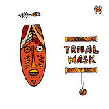 Tribal mask ethnic, sketch for your design