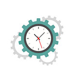 Clock gear flat icon