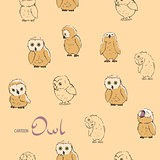Background seamless with owls