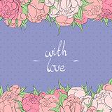 Floral frame postcard