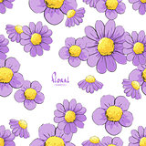 Floral illustration seamless