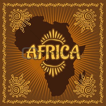Africa - Ethnic poster. Vector illustration.