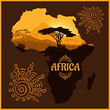 Africa - vector poster.