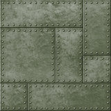 metal military green seamless background with rivets