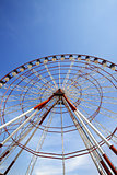 Ferris wheel and blue sky in sun day