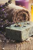 Lavender spa setting