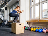 Box jump at the gym