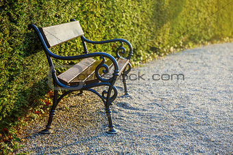 cast-iron bench in park