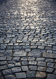 background of old cobblestone pavement
