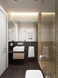 modern bathroom interior, 3d rendering