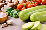Zucchini and other vegetables