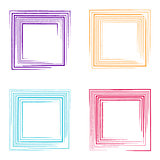 Colorful vector grunge square frames