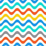 Seamless summer wavy line pattern