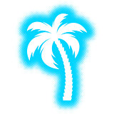 Vector palm tree silhouette icon