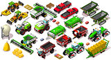 Isometric Vehicle Farm 3D Icon Set Collection Vector Illustratio