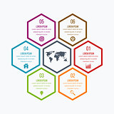 Vector illustration infographics six hexagons