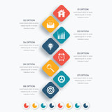 Vector square infographics with icons.