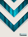 Abstract turquoise brochure with arrow shape