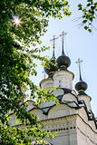 Domes of St. Antipy Church, Russia, Suzdal