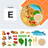 Products with vitamin E