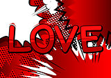 Love - Comic book style word.