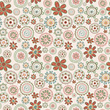 Floral retro seamless pattern
