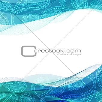 Abstract background, blue transparent waved line brochures, website, flyer design. smoke wave.